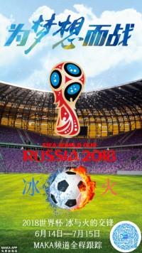 世界杯冰与火激情梦想海报