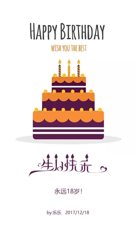 生日贺卡 生日祝福贺卡 生日快乐贺卡