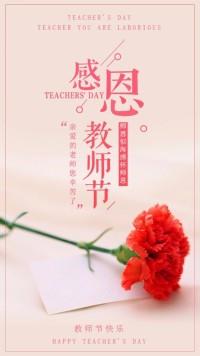 唯美亲感恩教师节爱心励志青春活动海报