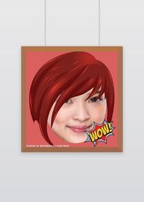 简约创意大头贴微信社交平台个性头像