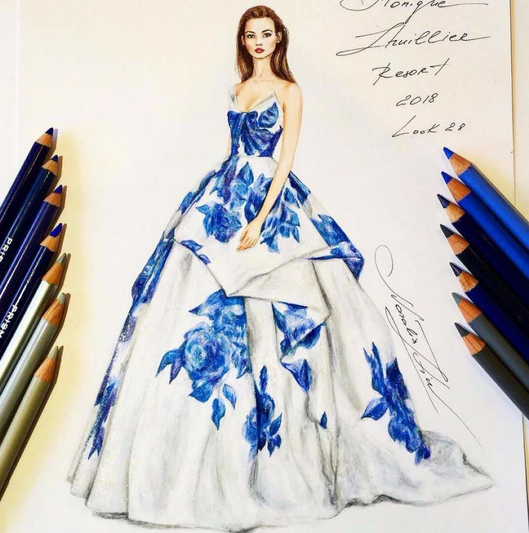 Fashion design color pencils 15