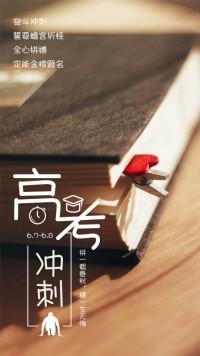 高考冲刺高考励志海报