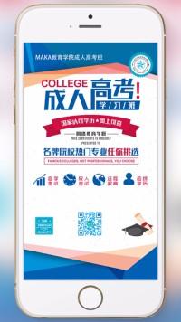 成人高考学些班自考办报名成人高考招生成人高考(米卡设计)