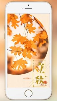 立秋立秋立秋二十四节气立秋海报你好秋天米卡设计