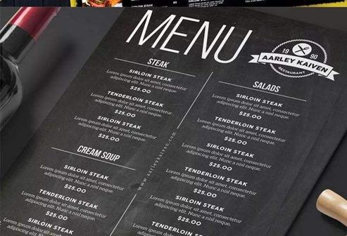 菜单设计要素盘点 6大要素缺一不可