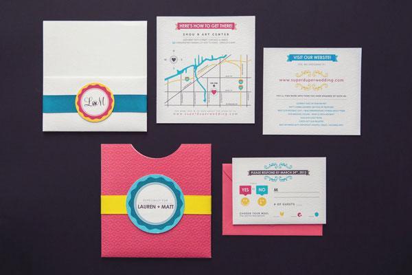 邀请卡设计图片欣赏 设计中的别出心裁美轮美奂