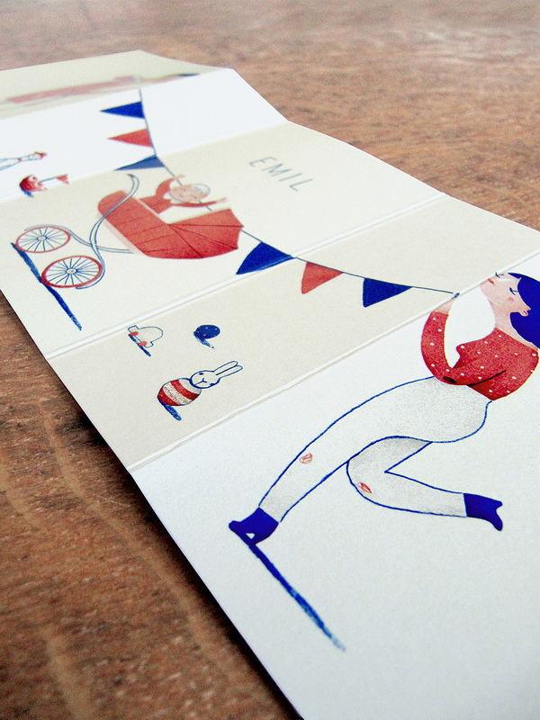 富有创意的折叠邀请卡设计 里面还藏着故事