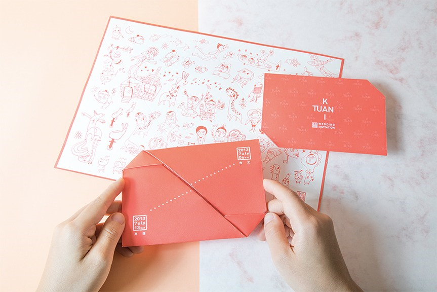 多风格的婚礼邀请卡设计 满足你对浪漫的一切理解