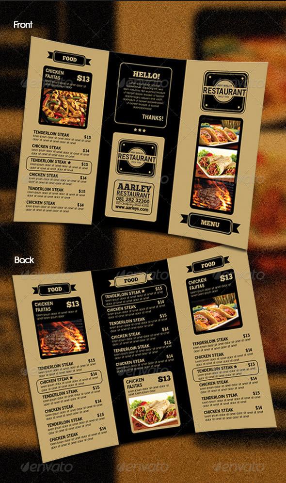精美三折页菜单设计欣赏 简洁而又全面的设计