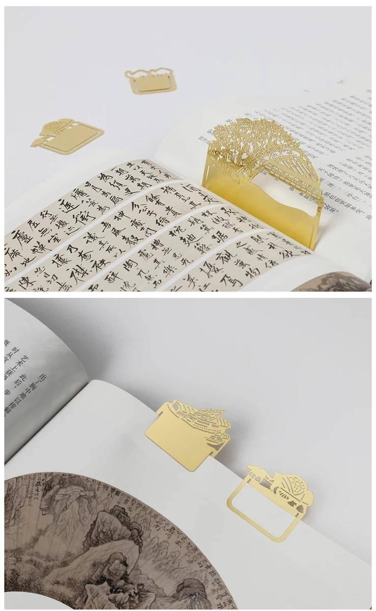 古风装饰书签设计赏析 从故宫里出来的那些书签