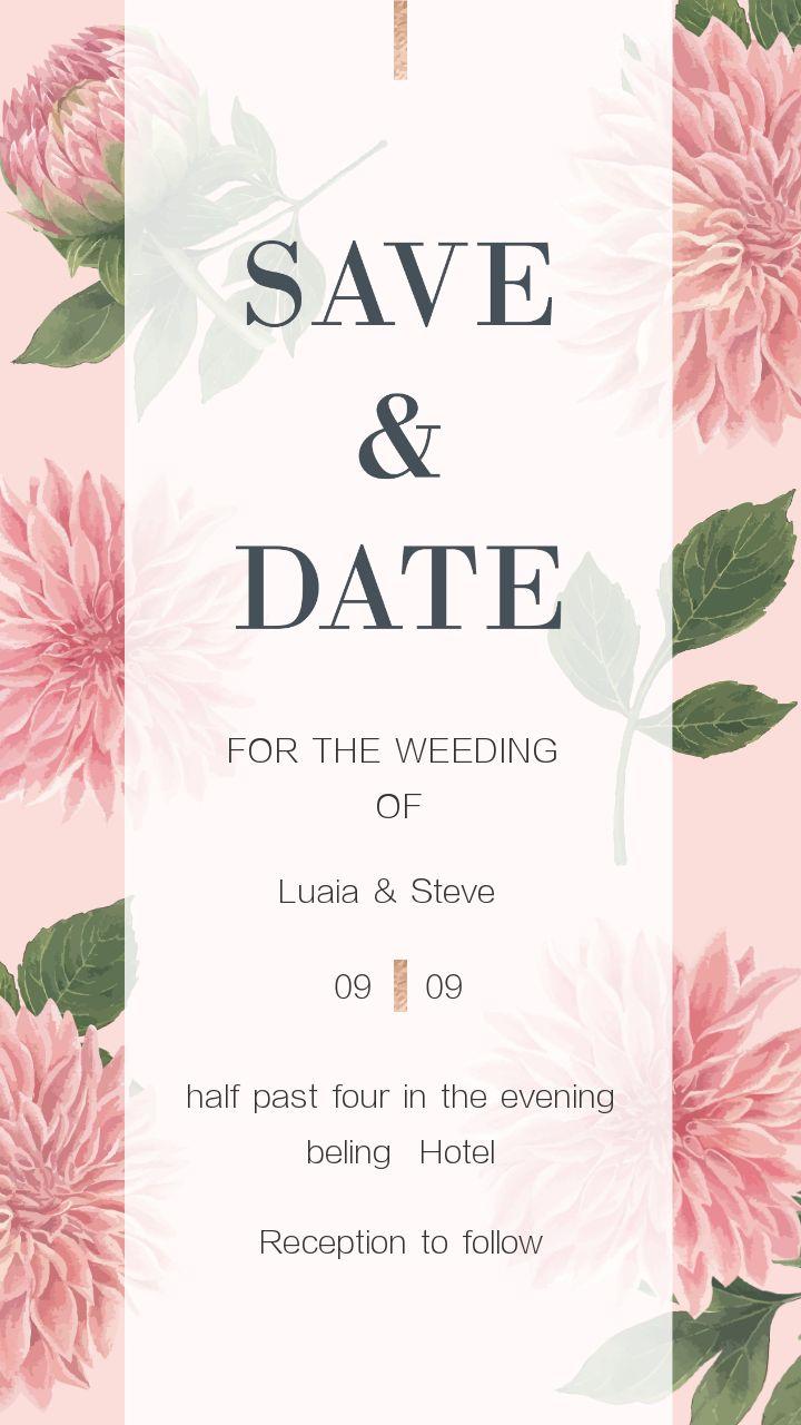 甜到梦幻的婚庆海报设计赏析 粉色系少令人女心满满