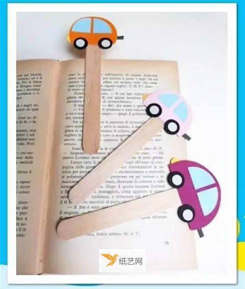 DIY书签设计分享 最可爱的小汽车书签在等你