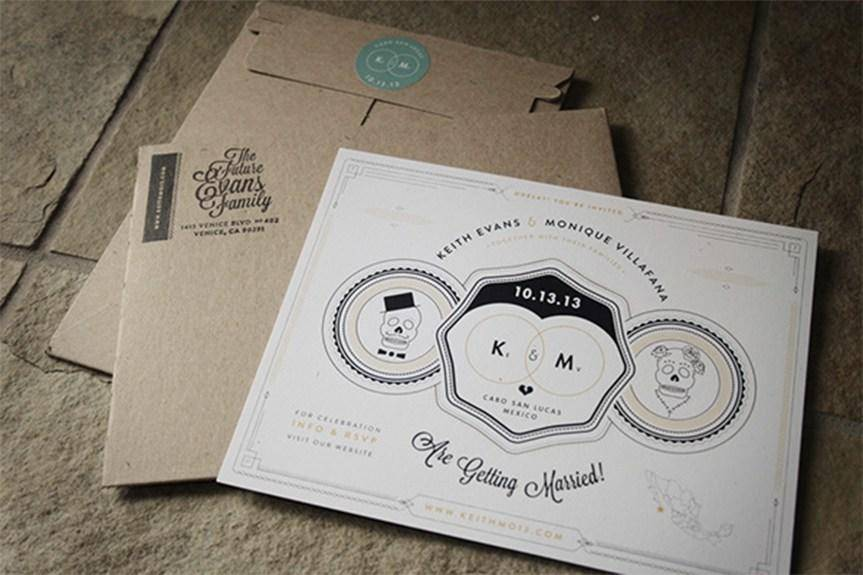 婚礼邀请卡设计作品分享 你的邀请卡可以这样做
