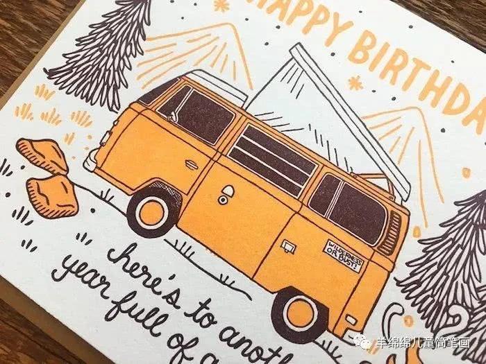 生日贺卡海报素材分享 有哪些简笔画生日贺卡图片素材
