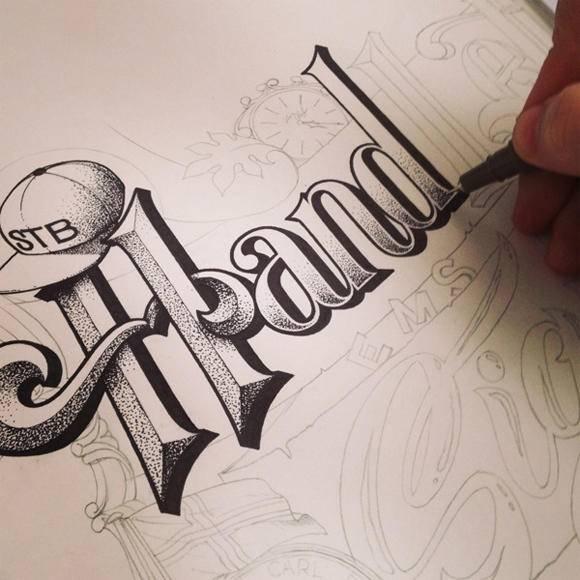 海报设计素材分享 最时尚的手绘海报字体在这