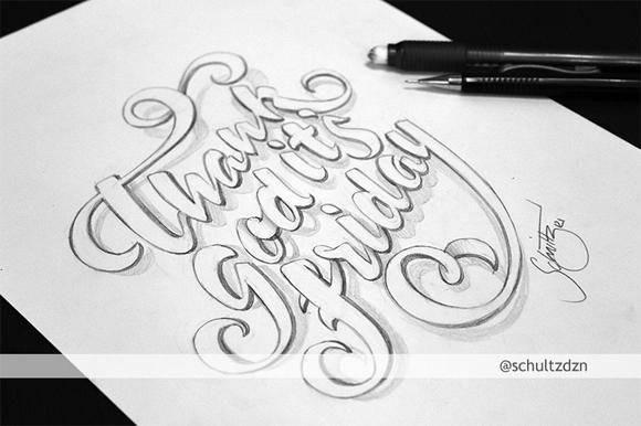 海报设计素材分享 创意满满的海报手绘字体
