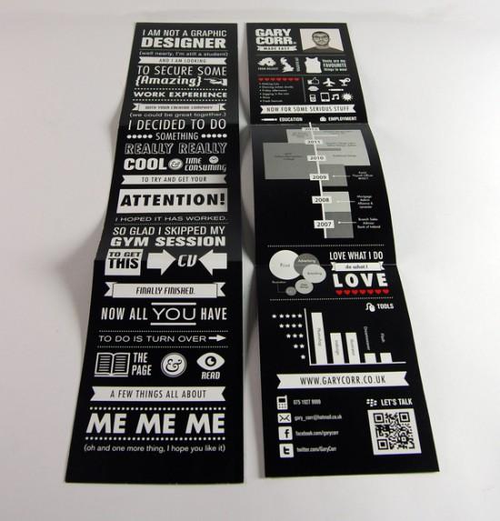 优秀简历设计分享 这些拿过奖的简历设计作品