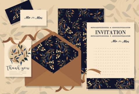婚礼邀请卡设计参考 这些个性婚礼邀请卡设计别错过