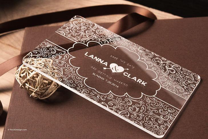 创意邀请卡设计参考 来看看精致的透明邀请卡设计