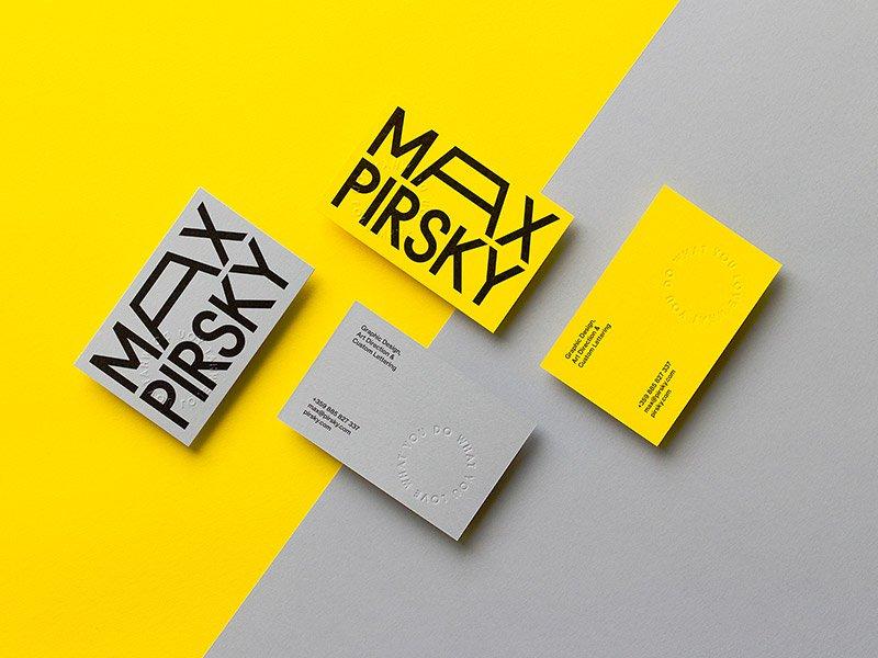 创意社交名片设计参考 极简风格名片设计作品欣赏