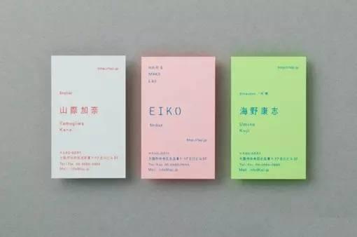 创意社交名片设计参考 值得一看的日系名片欣赏