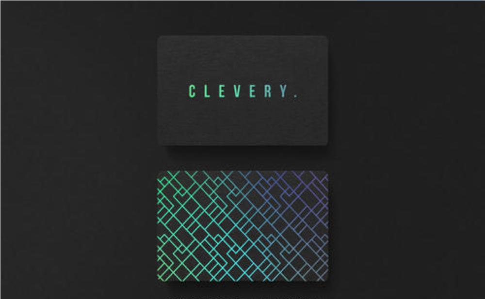 创意社交名片设计参考 超好看的蓝色系名片