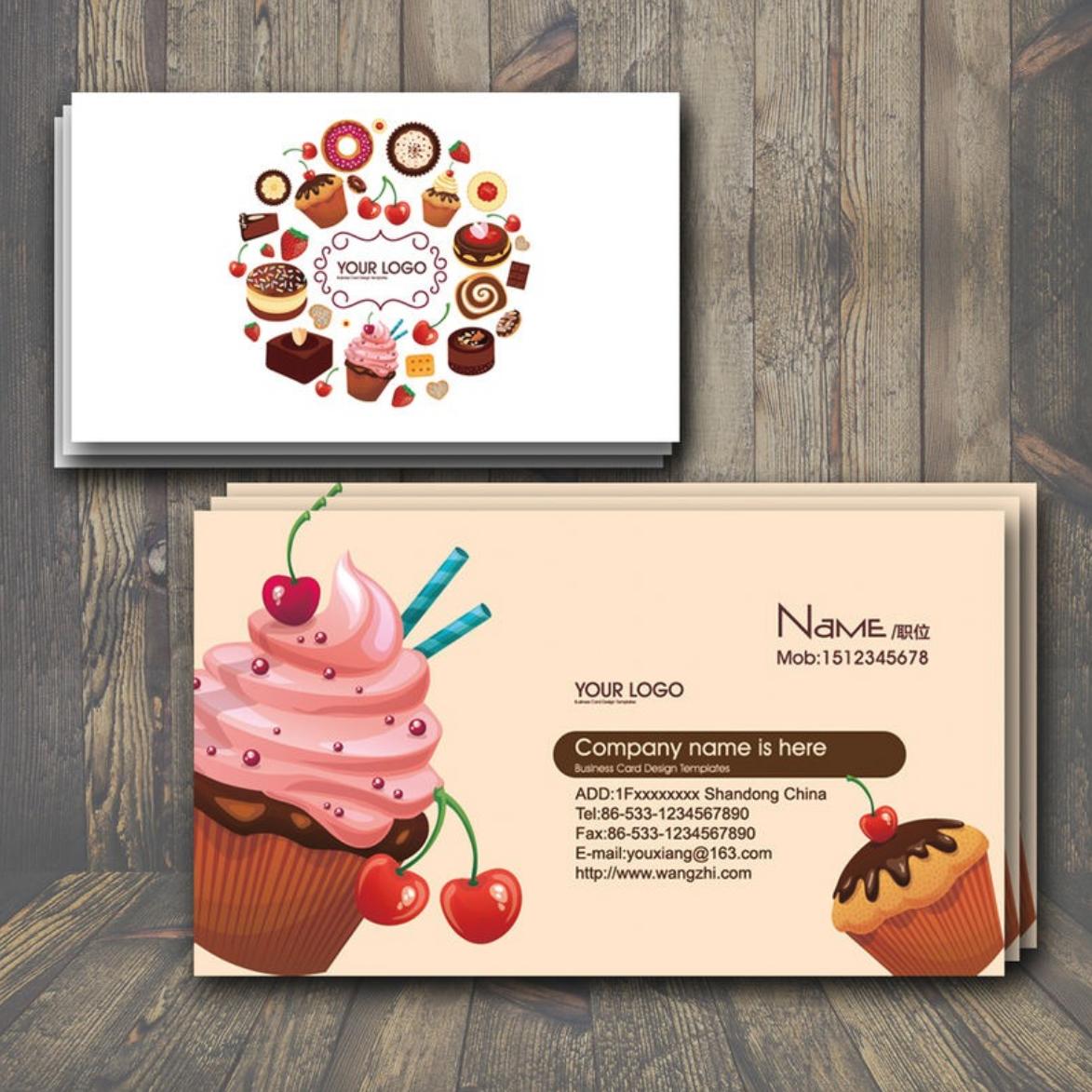 创意社交名片设计参考 这些蛋糕店名片不容错过
