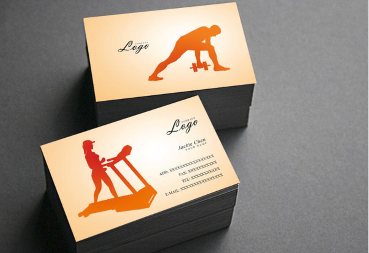 创意社交名片设计参考 有哪些好看的健身名片