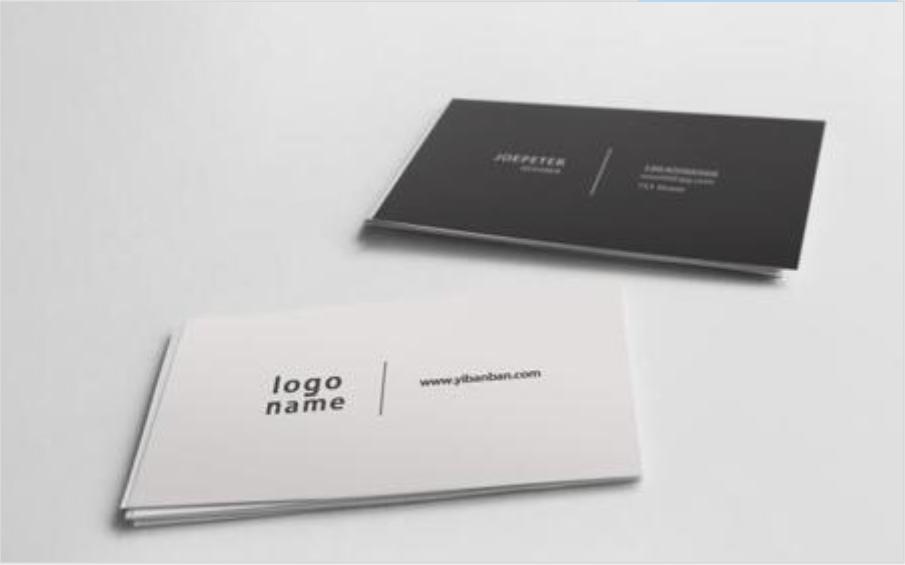 社交名片设计干货分享 设计名片有哪些构图