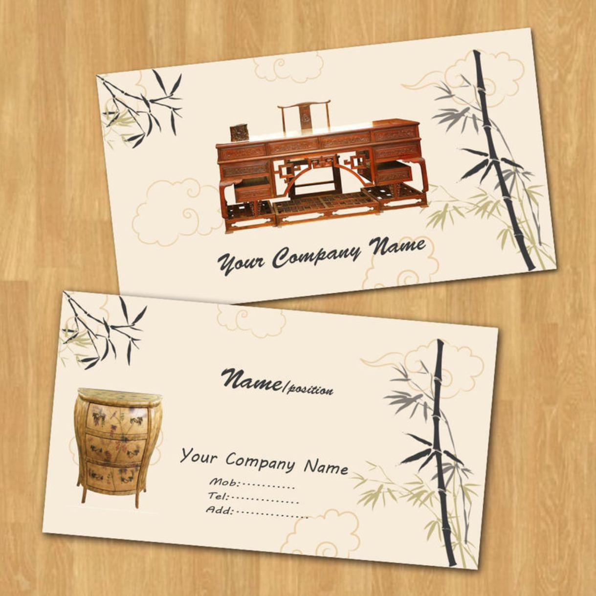 创意社交名片设计参考 有哪些关于家具的名片