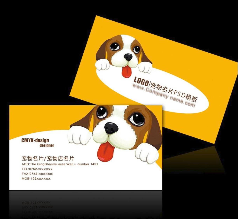 创意社交名片设计参考 有哪些好看的宠物店名片