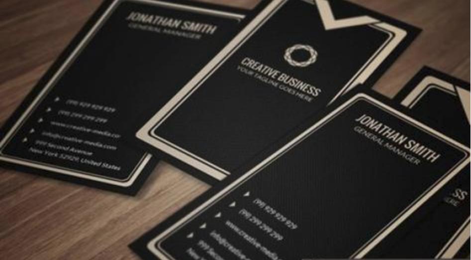 创意社交名片设计参考 西餐厅名片设计作品欣赏