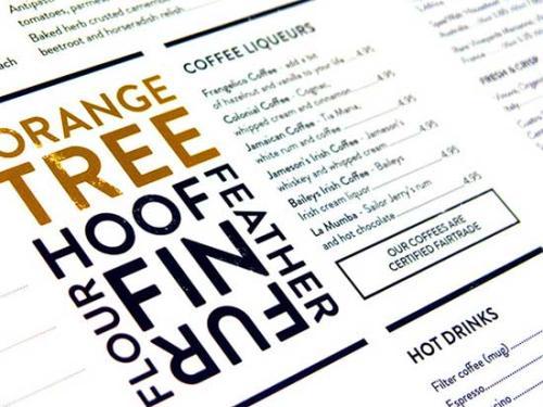 菜单设计技巧分享 菜单字体有什么设计技巧