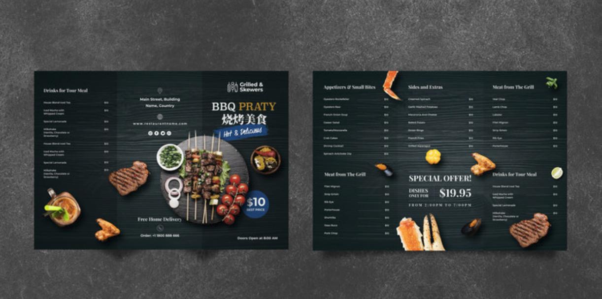 创意菜单设计参考 烧烤店菜单设计作品欣赏