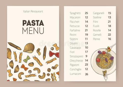 菜单设计种类分享 餐馆菜单的种类主要有几种