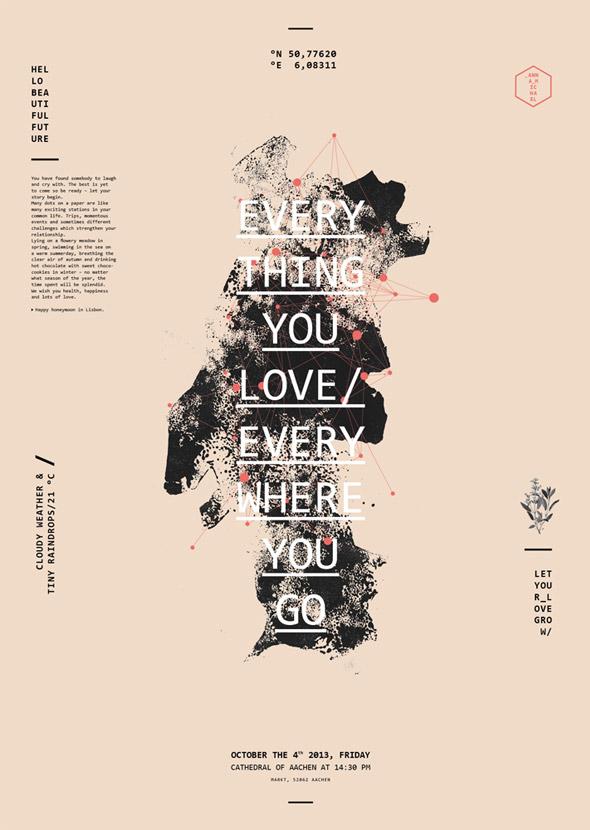 海报设计模板案例欣赏 抽象的设计受到设计师青睐