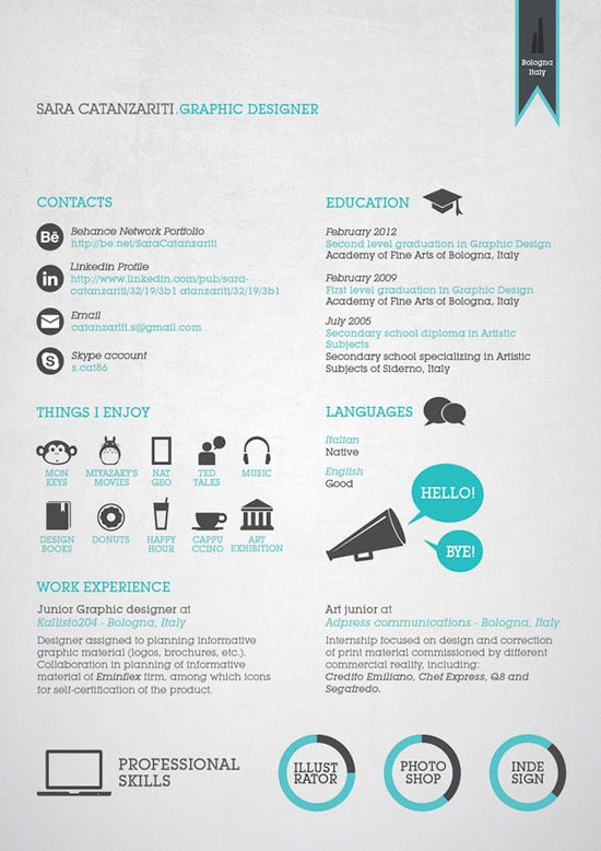 简历设计案例赏析 看看成功求职者的成功设计