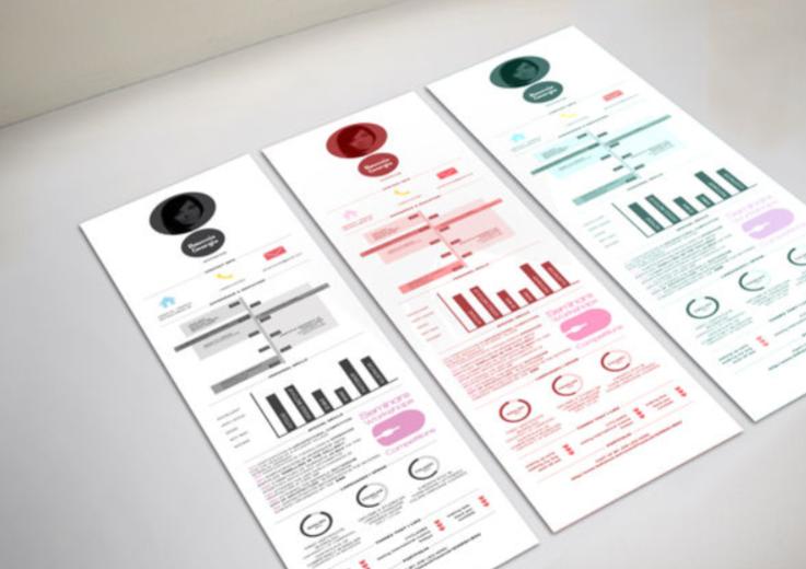 创意简历设计图片欣赏 简历设计也如此别出一格