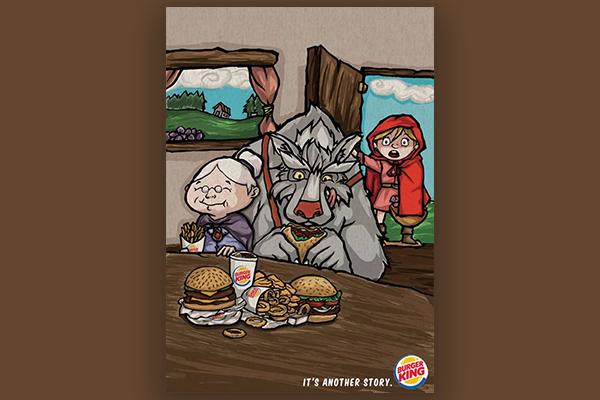 海报设计案例赏析  快餐巨头汉堡王是怎么做海报的