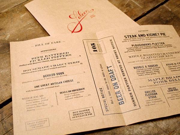 餐厅菜单设计技巧分享 做菜单前必看