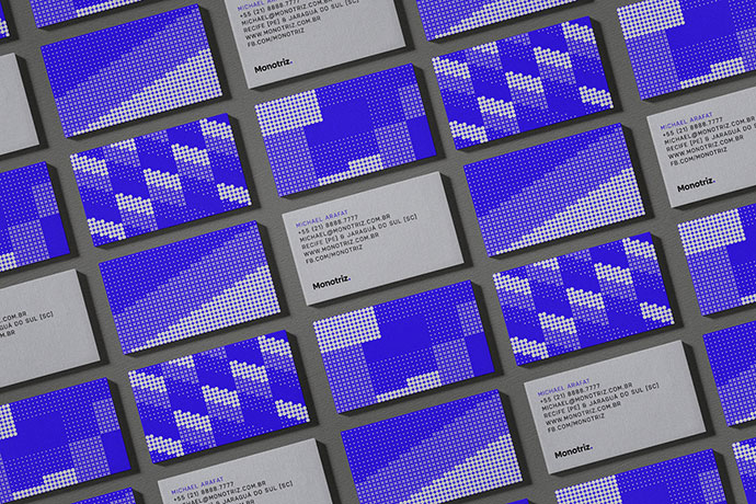 创意社交名片设计分享 你知道半色调名片吗