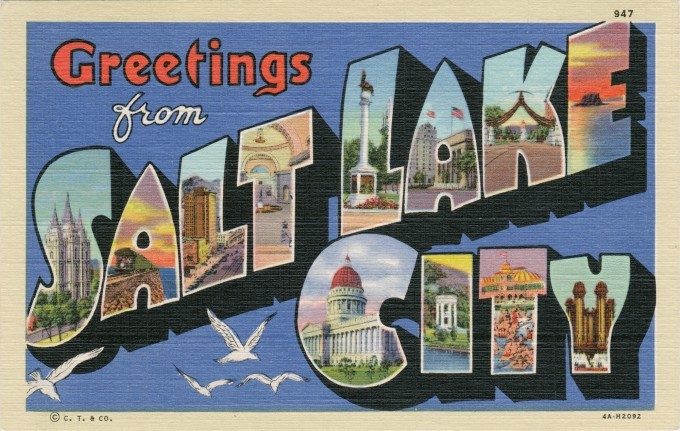 复古城市明信片设计 专属于这个城市的独特味道