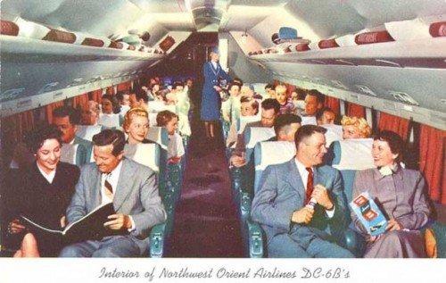 复古明信片设计图片欣赏 回忆昔日的航空交通场景