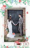 童话城堡清新淡雅手绘甜美粉色森系高端婚礼结婚邀请函请柬喜帖