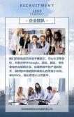高端大气蓝色商务企业宣传公司校园人才招聘H5模板