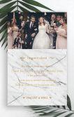大理石金色热带植物极简唯美婚礼邀请函