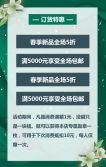 绿色森系清新风格春季新品上市促销宣传H5