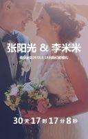 雅致时尚唯美节约清新婚礼欧式请柬请帖喜帖邀请函