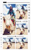 清新文艺个人旅游相册 时尚梨花白旅游相册 个人写真相册 简约大气相册