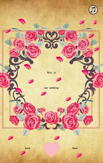 玫瑰花瓣,复古典雅婚礼
